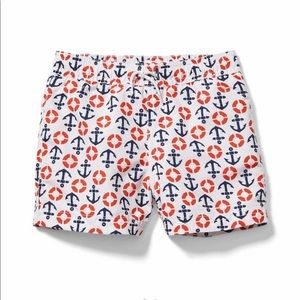 Janie and Jack Anchor Lifesaver Trunks - NEW